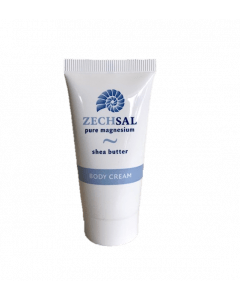 Zechsal magnesium bodycream, 30 ml. Reisverpakking.